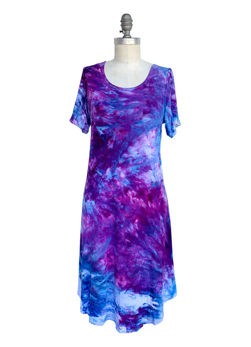 The Perfect Short Sleeve Dress in Perfect Purple - Dress - Dyetology