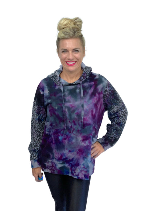 "Perfect Leopard Hoodie Sweatshirt in ""Lovely Lilac"" - Limited Release"