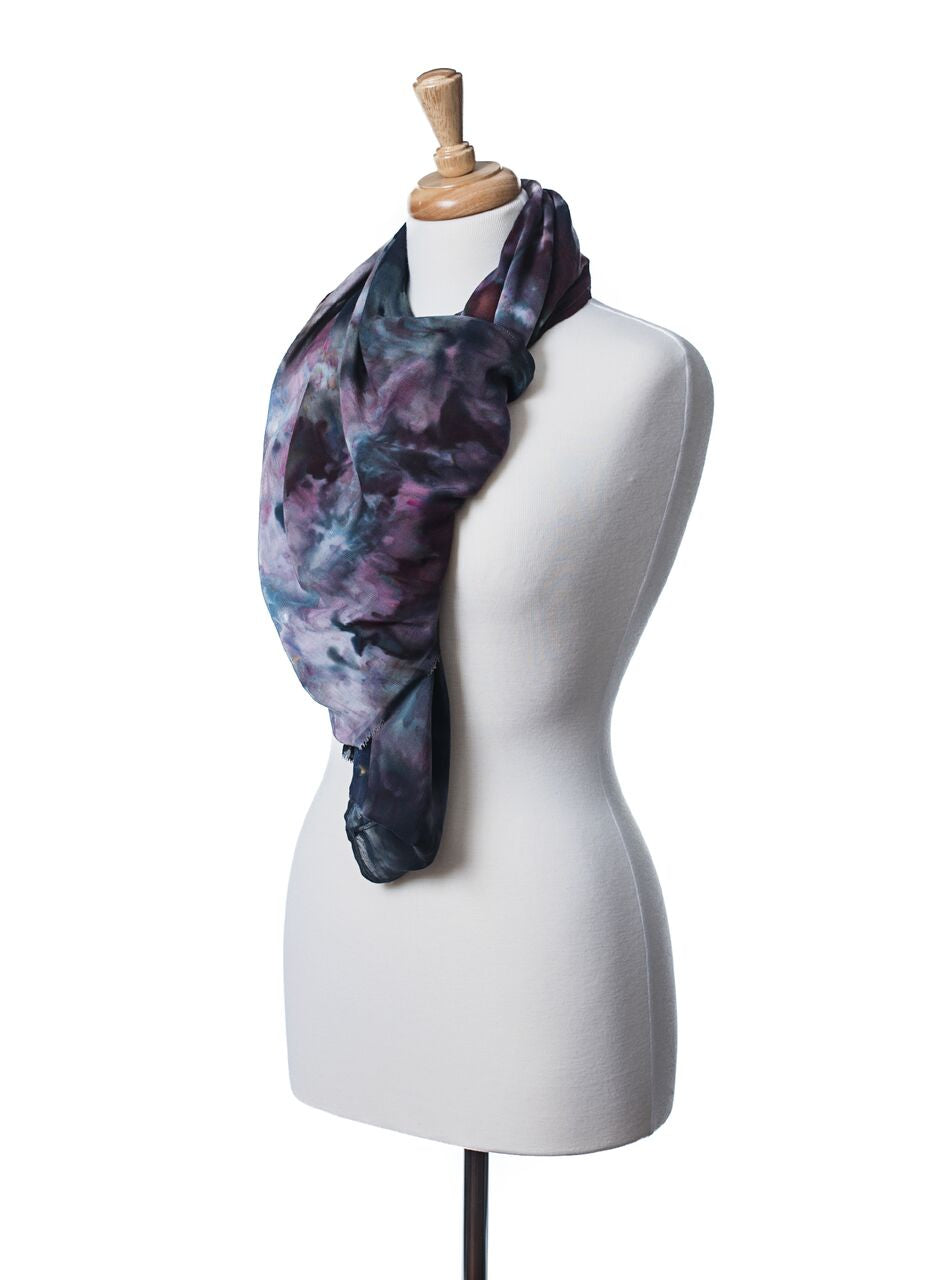 Rayon Shawl Scarf in A Night Out - Shawl - Dyetology