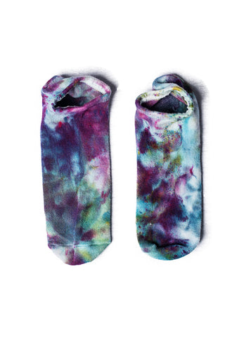 Hand Dyed Bamboo Rayon Footies- Shades of Purple
