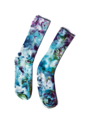 Bamboo Rayon Crew Socks- Multi-Bright