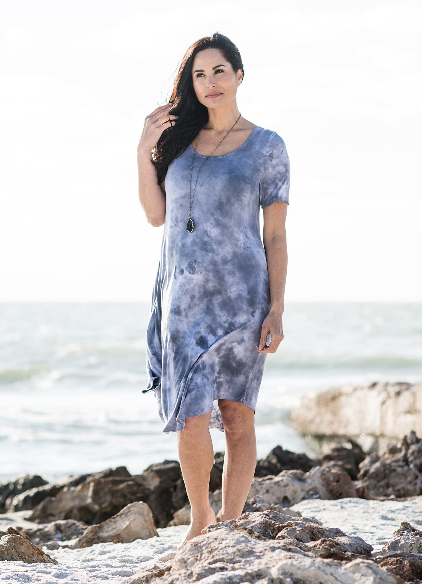The Perfect Short Sleeve Dress in Mist - Dress - Dyetology