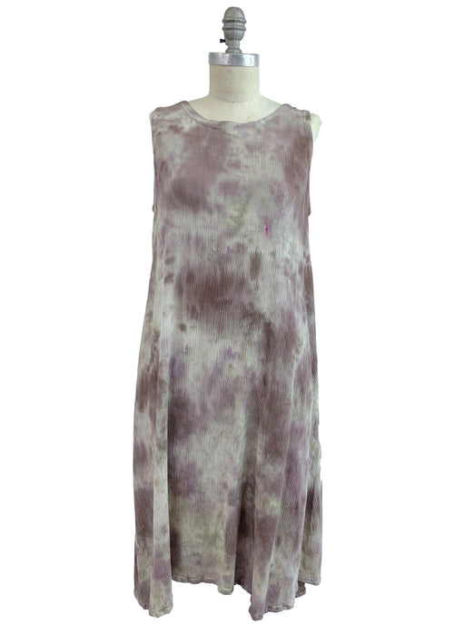 Sleeveless A-Line Dress (Rayon Gauze) in A Mocha - Dyetology