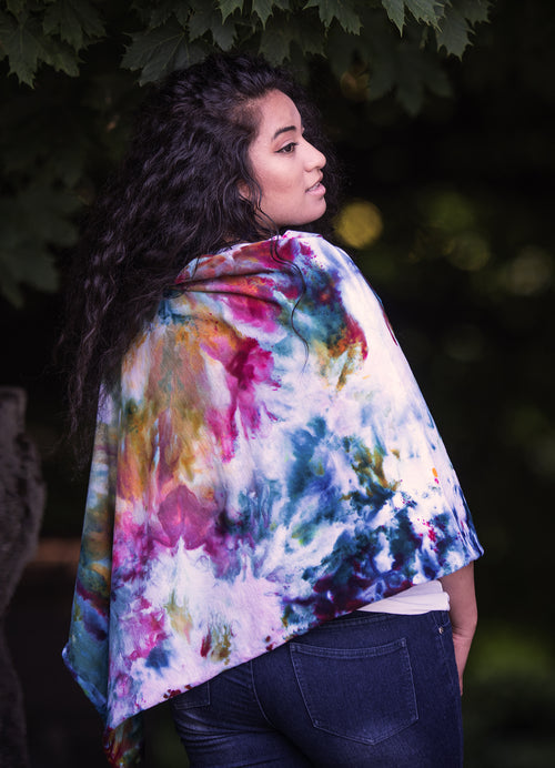 5 in 1 Poncho in Mosaic - Top - Dyetology