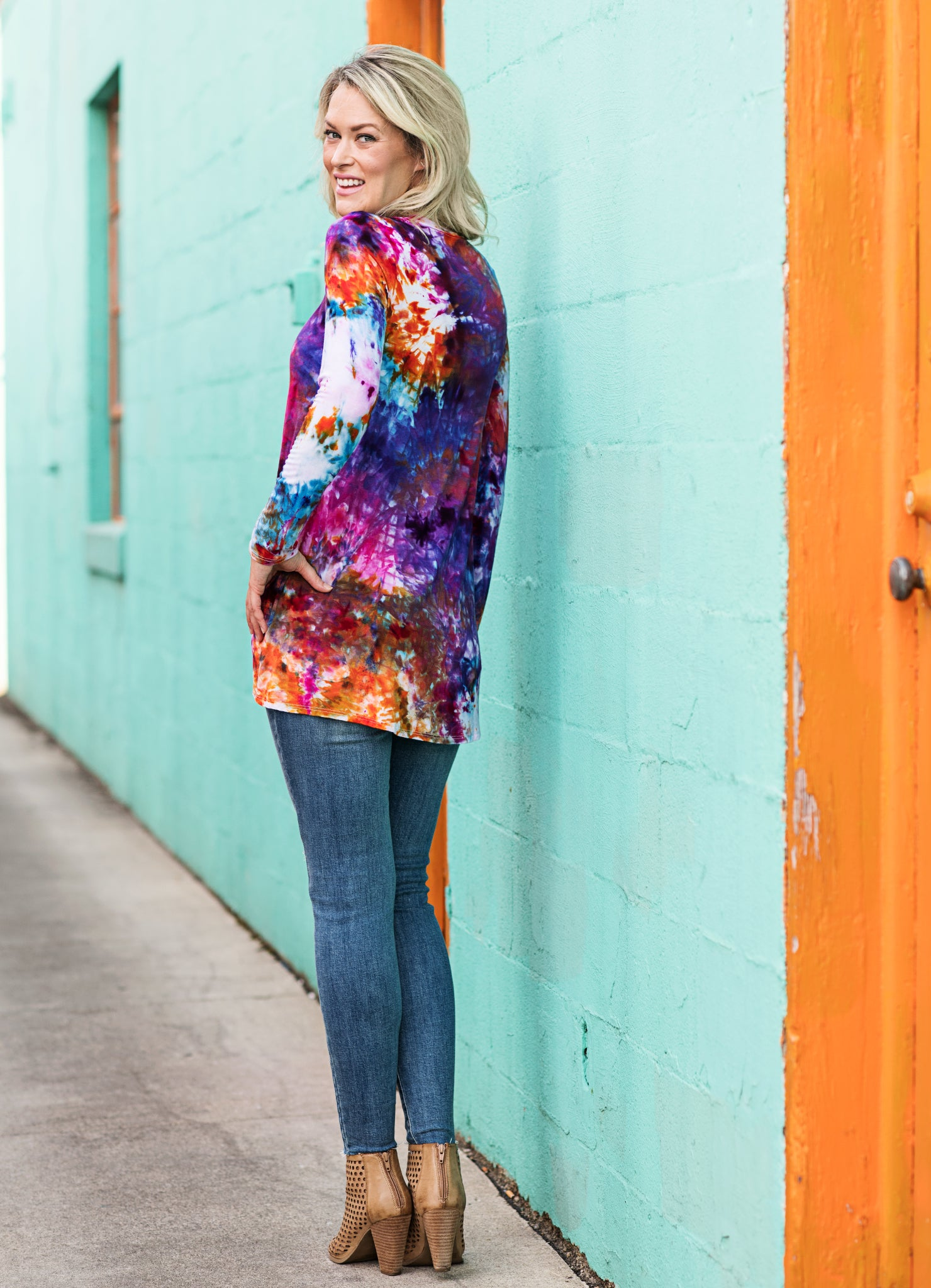 Long Sleeve Knotted Tee in Wonder - Dress - Dyetology