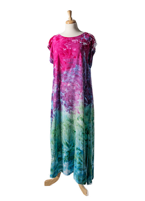 Easy Maxi Dress in Peacock Ombre - Dress - Dyetology