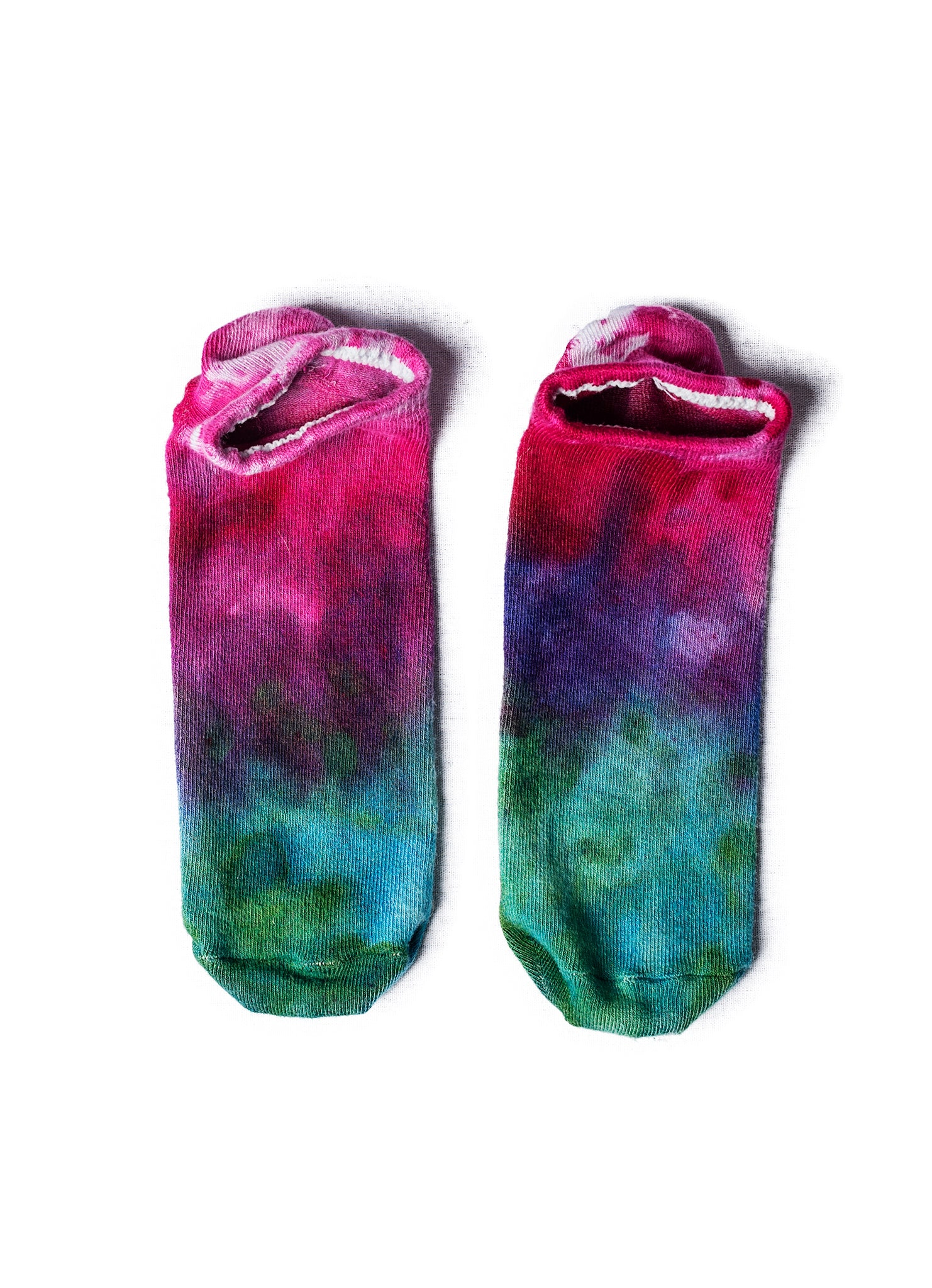 Bamboo Rayon Footies- Peacock Ombre - Footies - Dyetology