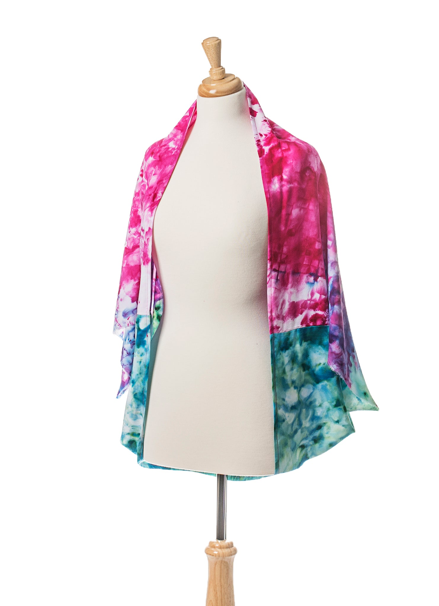 Peacock Ombre Rayon Shawl Scarf - Shawl - Dyetology