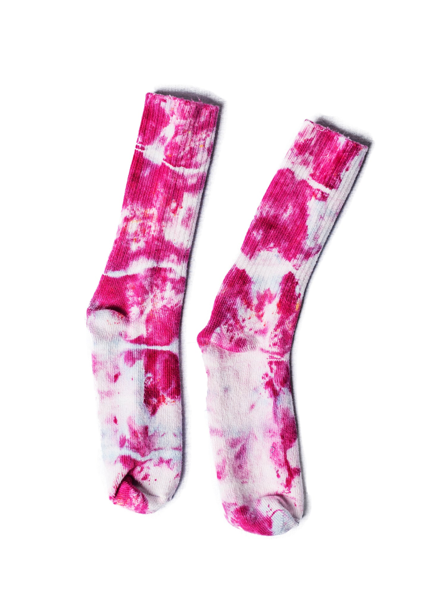 Bamboo Rayon Crew Socks-Shades of Pink - Crew Socks - Dyetology