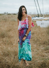 Peacock Ombre Maxi Dress