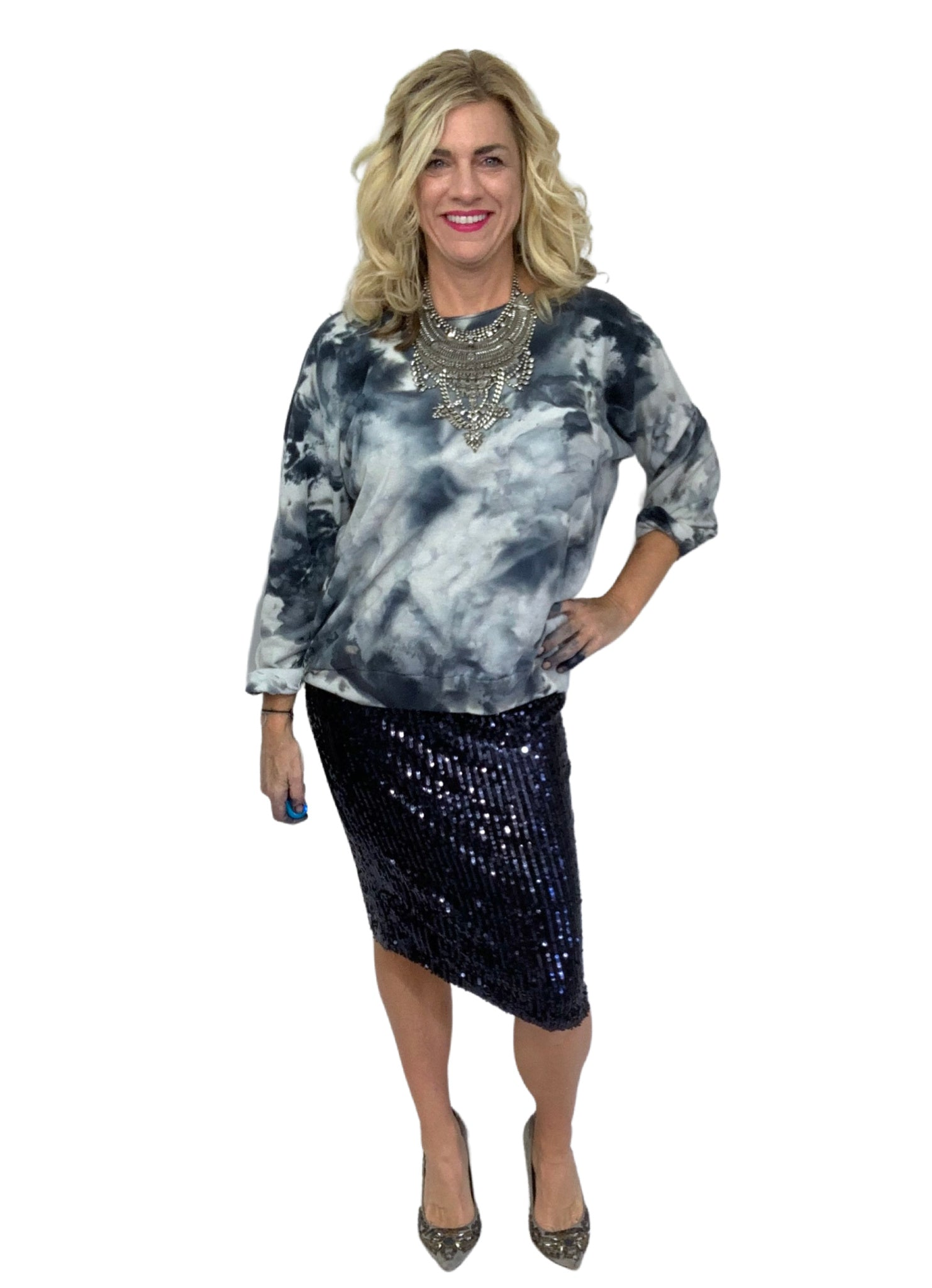 Hand Dyed Perfect Sweatshirt in Moon Stone - Limited Release - Dyetology