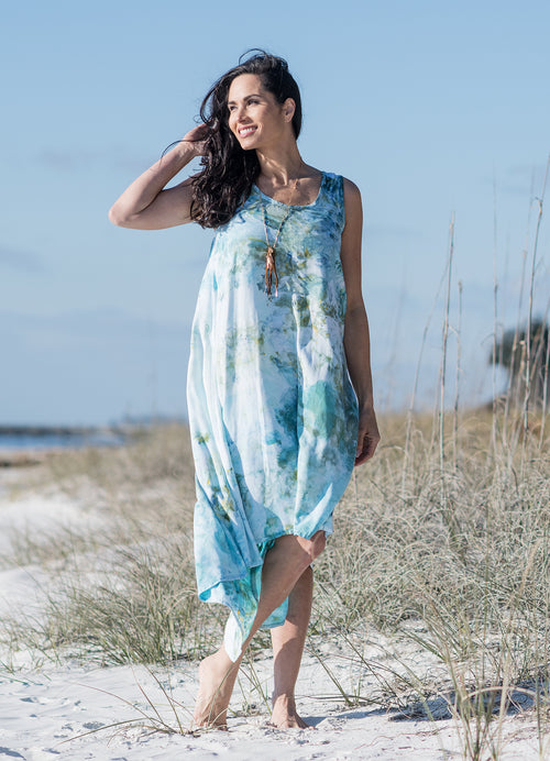 Hi Lo Maxi Dress in Sea Glass - Dress - Dyetology