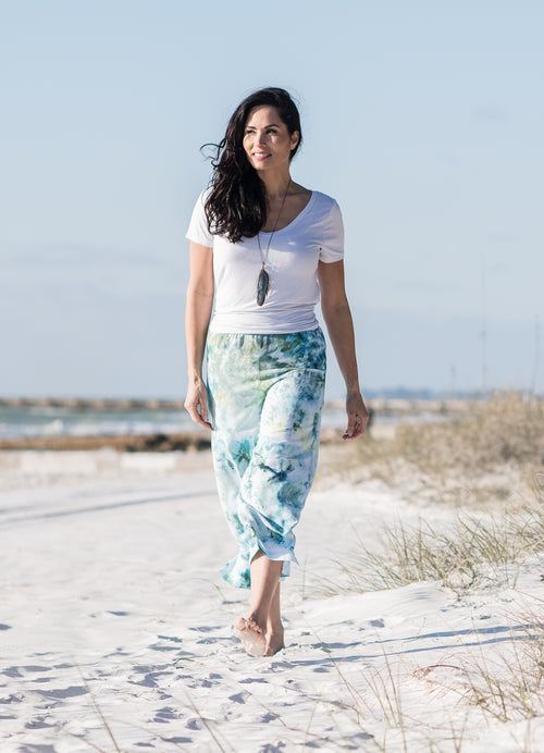 Easy Capris in Sea Glass -  - Dyetology