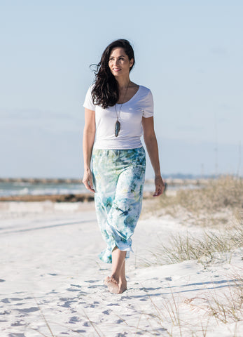 Maxi Skirt with Pockets in Sea Glass