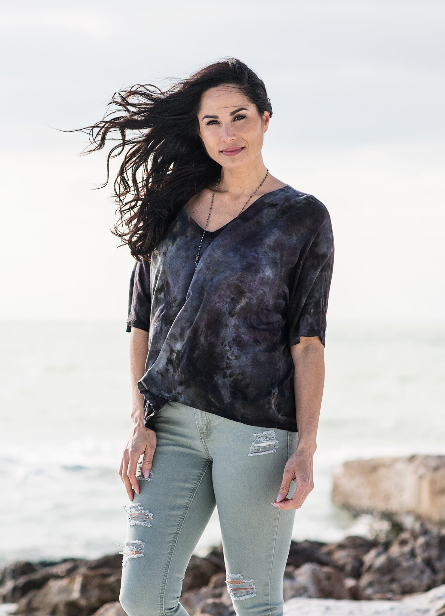 Easy Rayon Shirt in Storm - Top - Dyetology