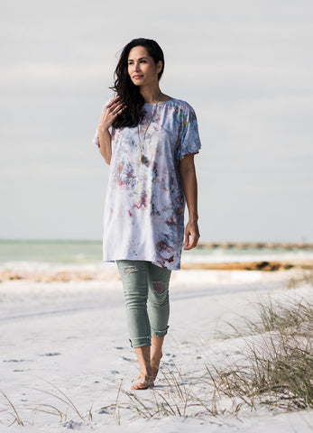 Easy V Neck Tunic in Bahama Mama
