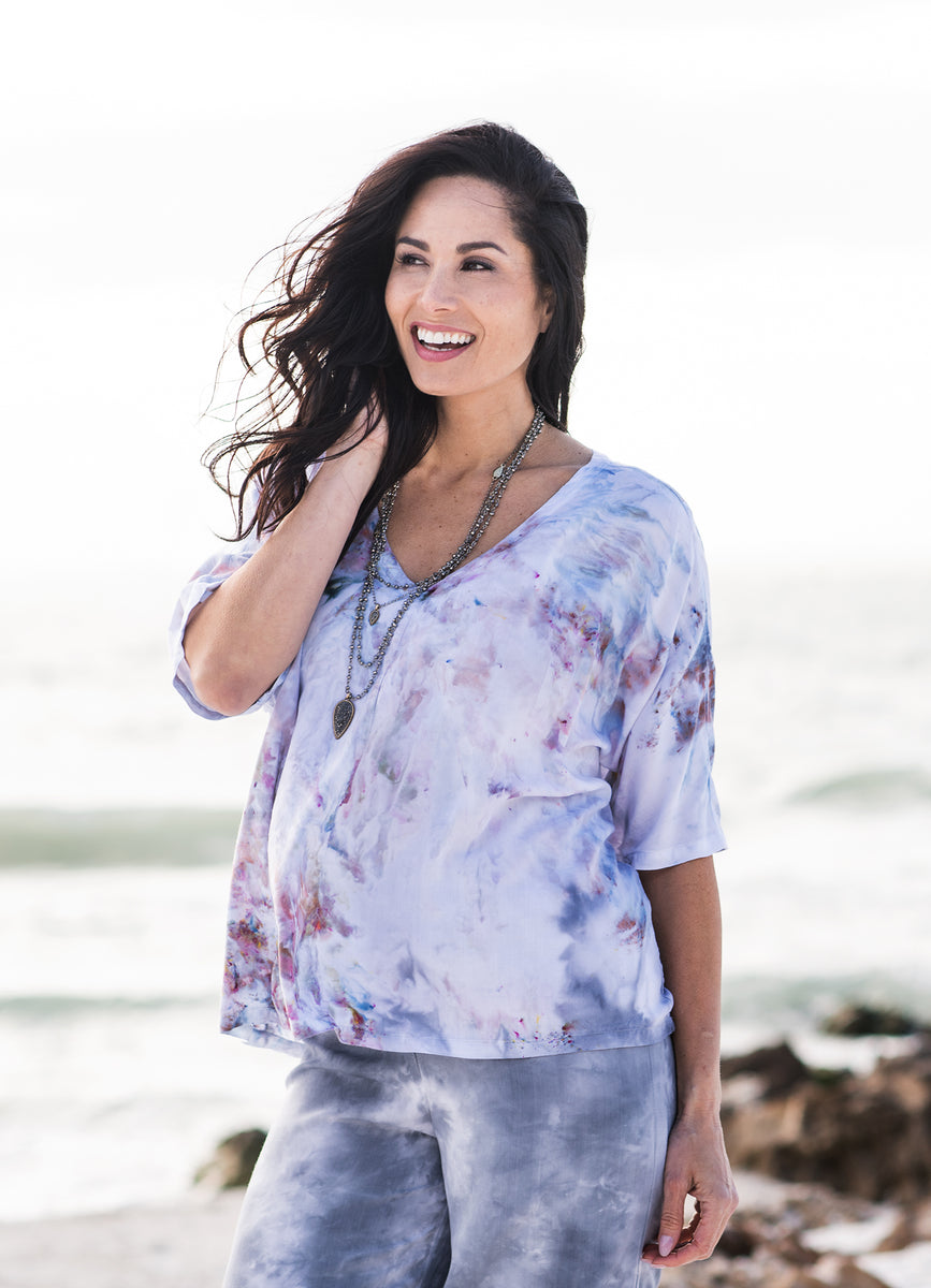 Hand Dyed Easy Rayon Shirt in Whisper - Dyetology