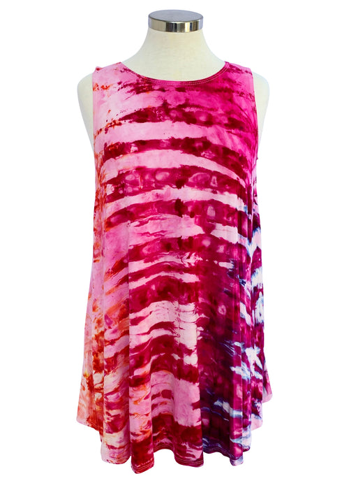 A-Line Tunic Tank in Flamingo - Top - Dyetology