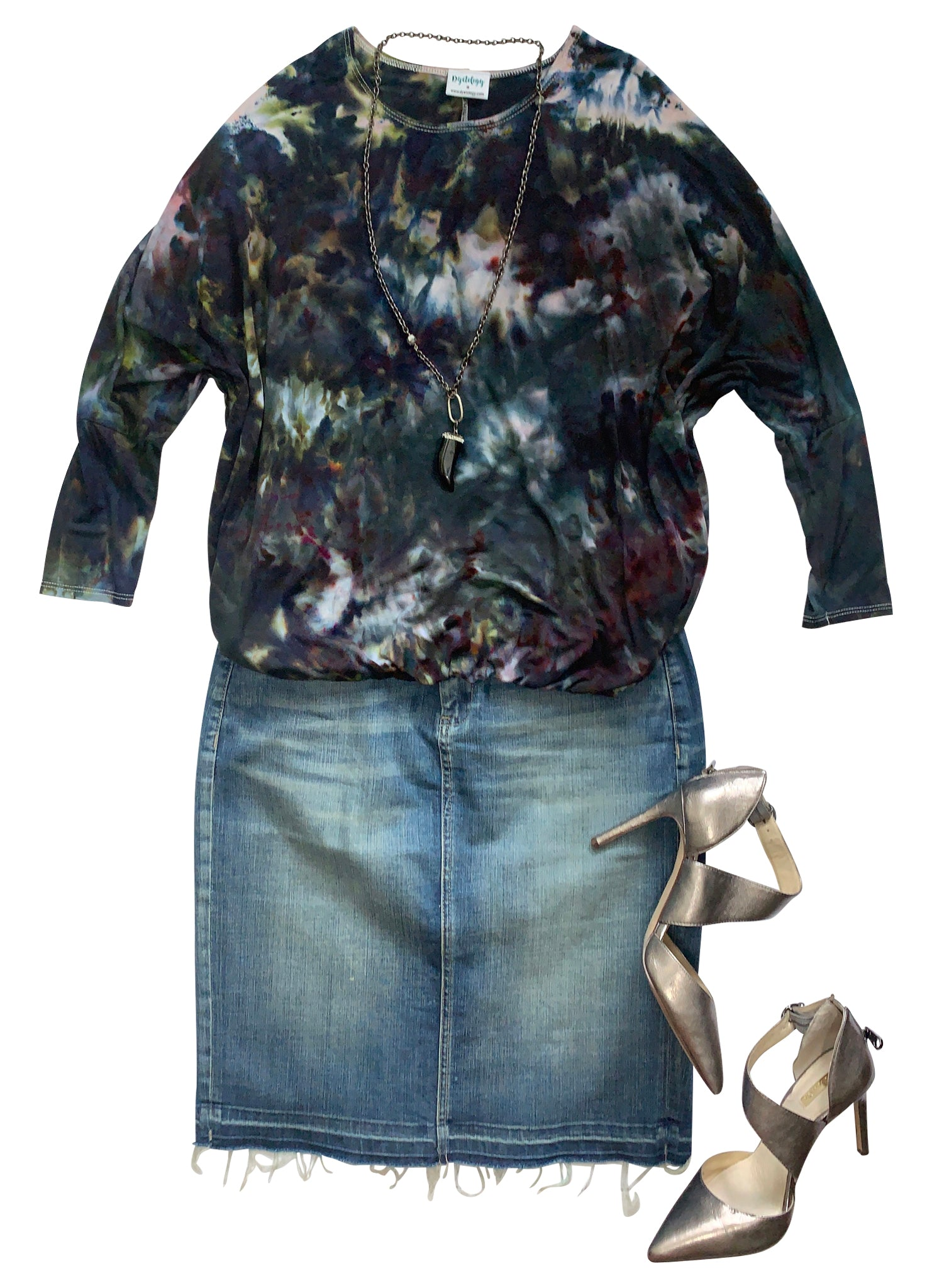 Elastic Hem Blouse in A Night Out - Top - Dyetology