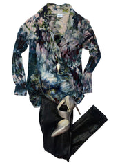 "Hand Dyed Criss Cross Blouse in ""A Night Out"" - Dyetology"