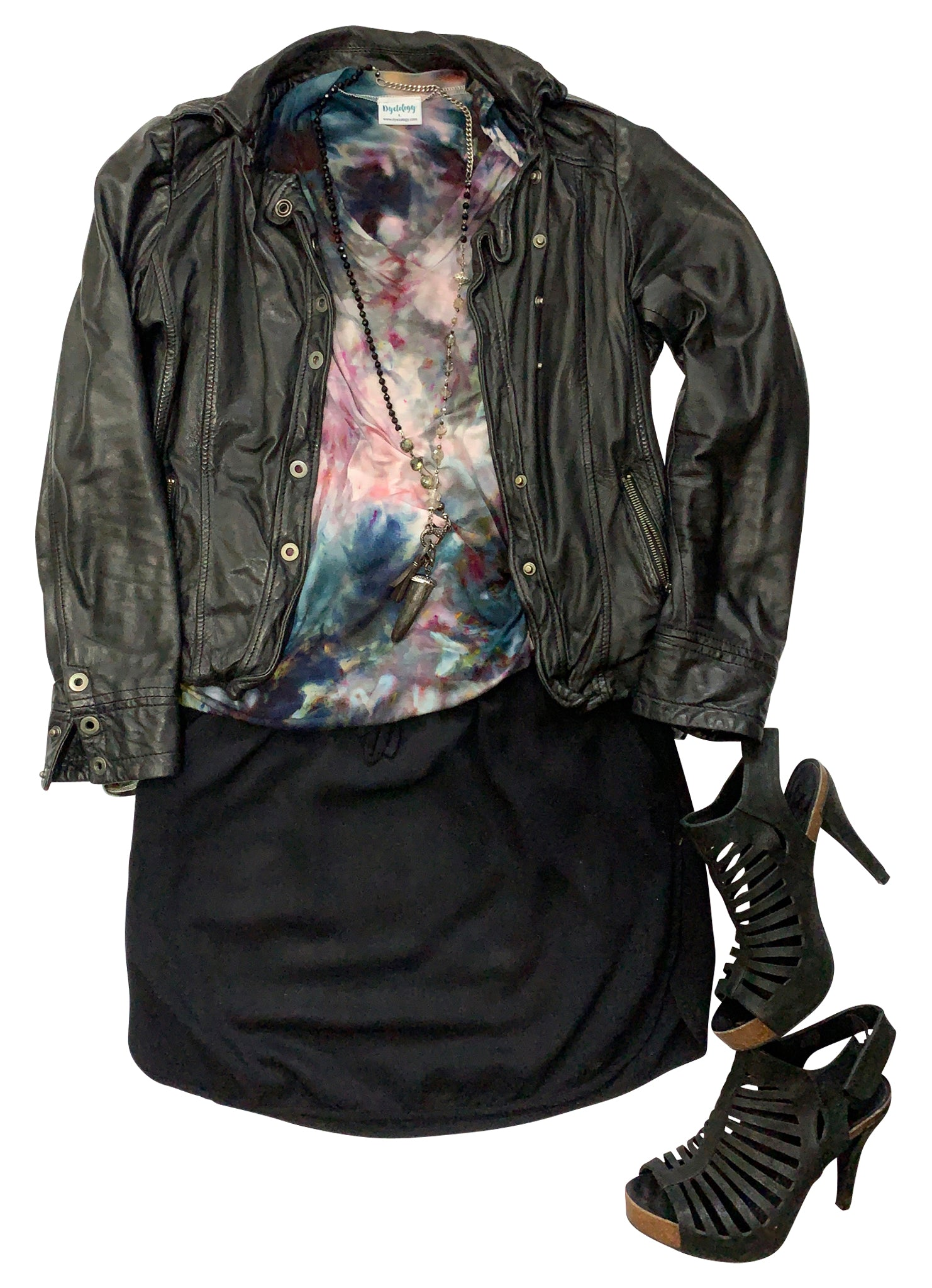 V Neck Tunic in A Night Out - Dyetology