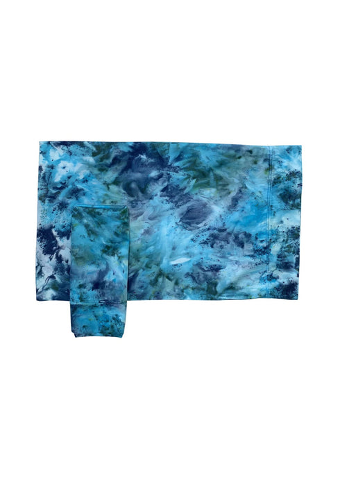 Hand-Dyed Cotton Sateen Pillow Case Set in Aquarius - Dyetology