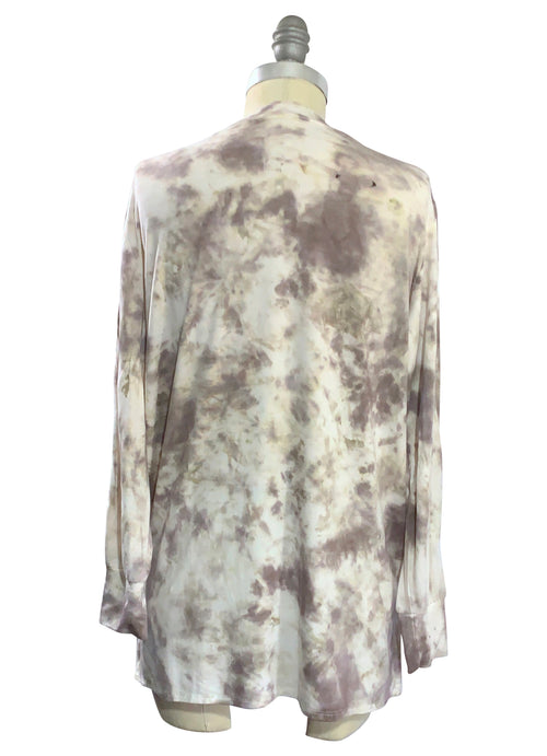 Long Tunic with Side Seam Vents in Mocha - Top - Dyetology