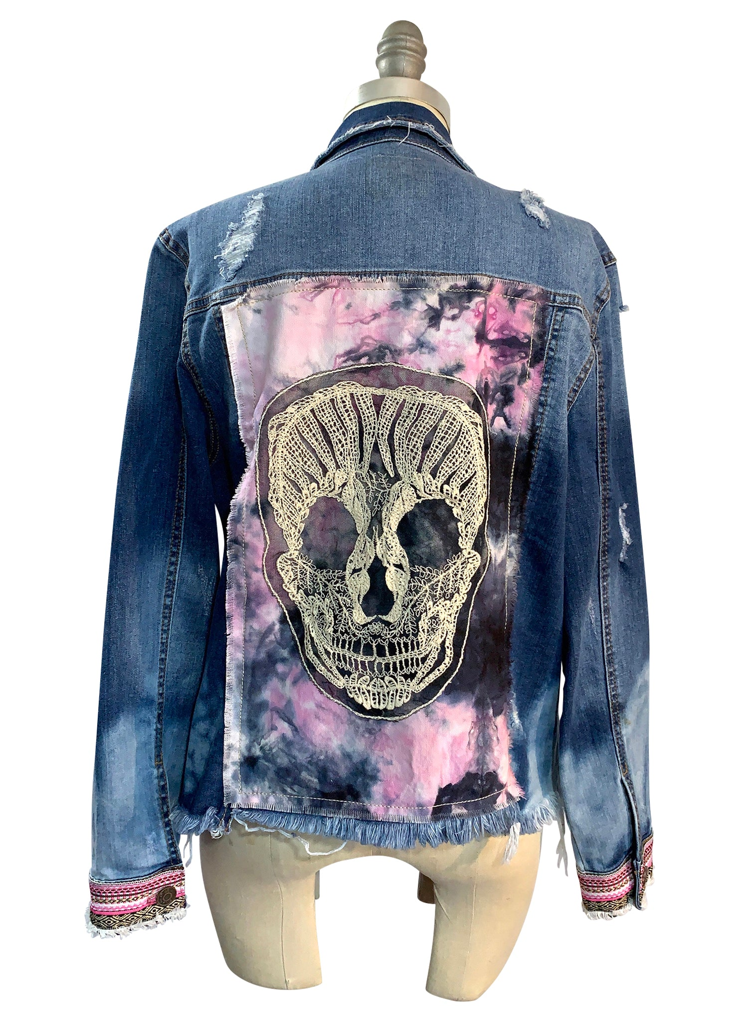 Hand-Dyed Denim Jacket  -