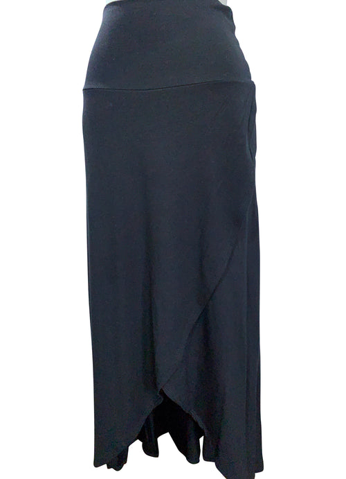 Split Hem Maxi Skirt in Solid Black - Maxi Skirt - Dyetology