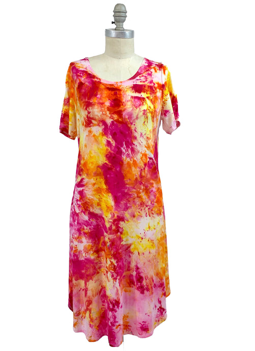 "The Perfect Short Sleeve Dress in ""Bloom"" - Dyetology"