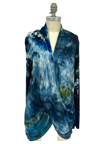 "Hand Dyed Criss Cross Blouse in ""A Night Out"""