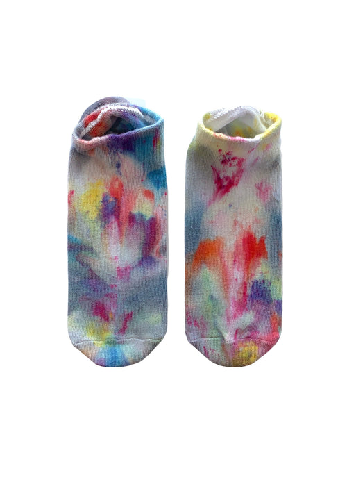 Hand Dyed Bamboo Rayon Footies - Candy Land - Footies - Dyetology