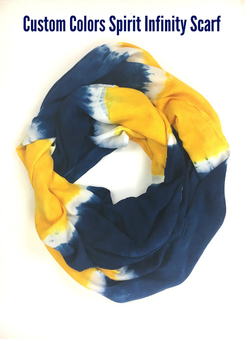 Custom Colors Spirit Infinity Scarf - Infinity Scarves - Dyetology