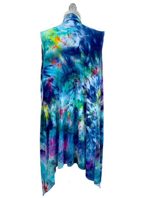 "Copy of Hand Dyed Drape Front Vest in ""Daydream"" - Dyetology"