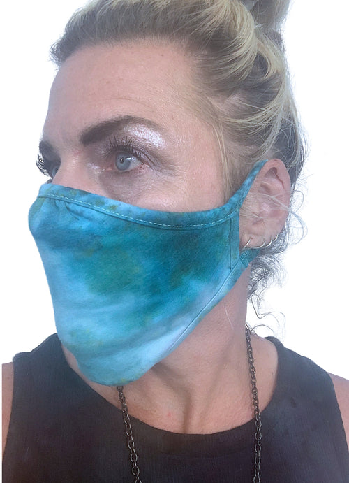 Hand-Dyed Face Mask
