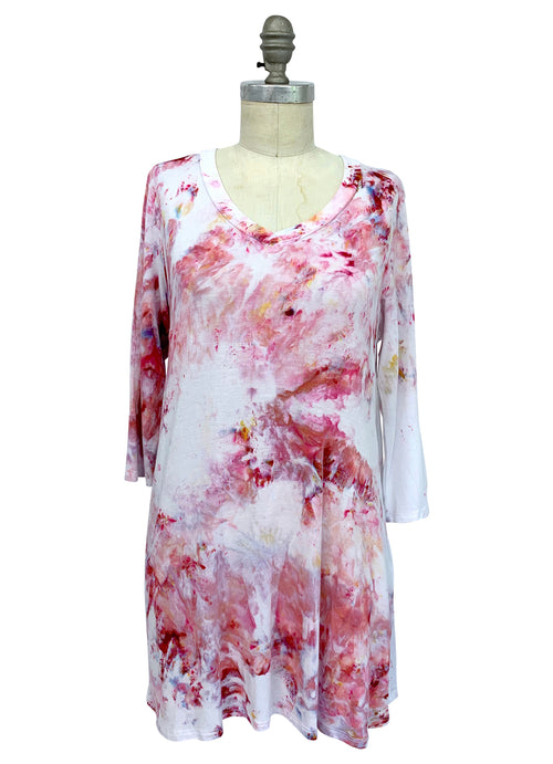"V Neck Tunic in ""Dusty Pink"" - Top - Dyetology"