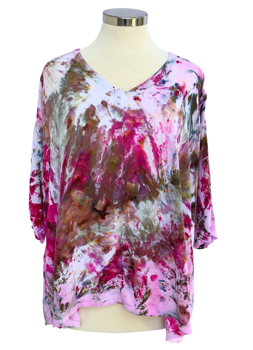 Easy Rayon Shirt in Strawberry Fields - Top - Dyetology