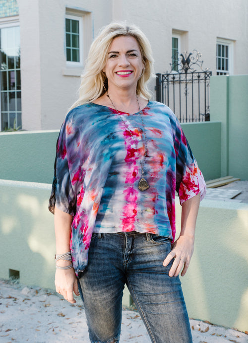 Easy Rayon Shirt in Cosmic - Top - Dyetology