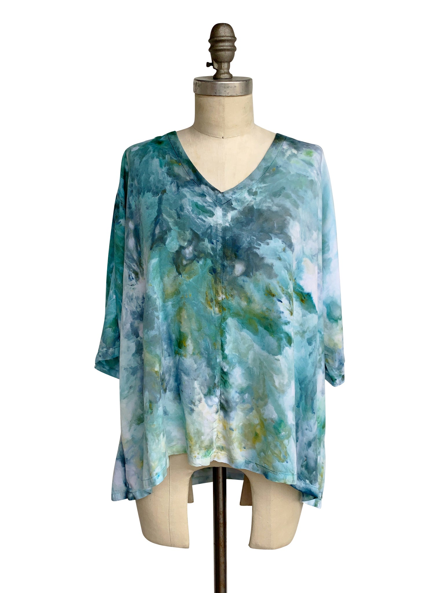 Easy Rayon Shirt in Sea Glass - Top - Dyetology