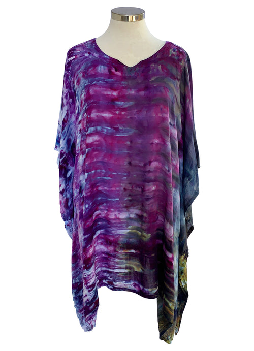 Easy V Neck Tunic in Black Iris - Top - Dyetology