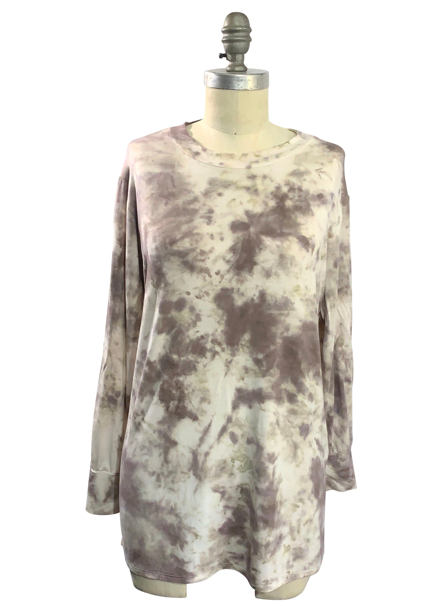Mocha Tunic and Seaglass Scarf BUNDLE - Top - Dyetology