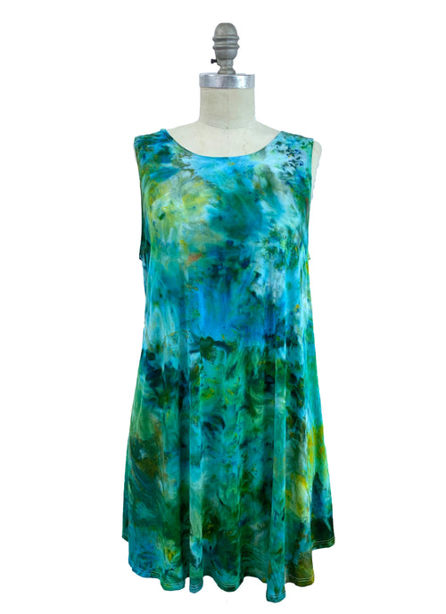 "Hand Dyed A-Line Tunic Tank in ""Luck O' The Irish"" - Dyetology"