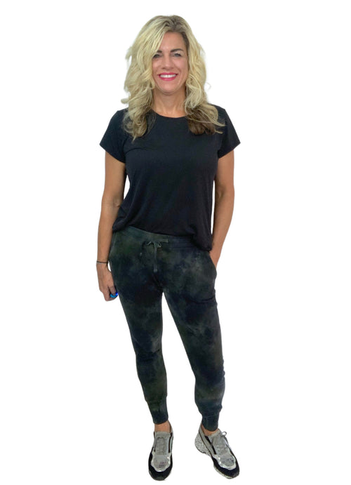 "Perfect Cotton Joggers - in ""Olive and Black"" - Bottoms - Dyetology"