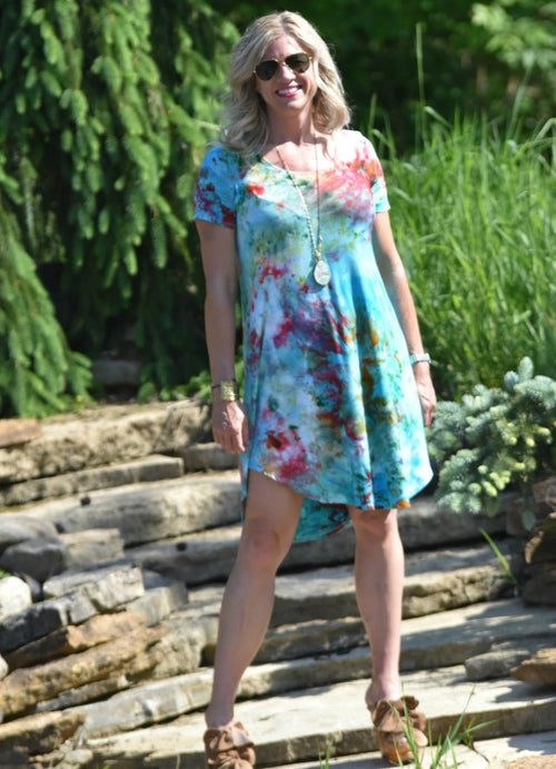 The Perfect Short Sleeve Dress in Desert Rose - Dress - Dyetology