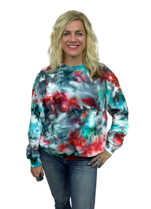 "Hand Dyed Perfect Sweatshirt in ""Jubilee"" - Limited Release - Top - Dyetology"