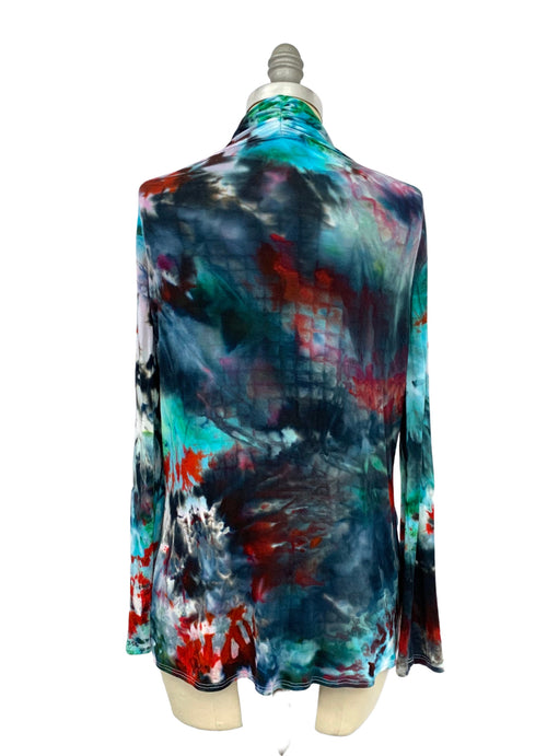 "Hand Dyed Criss Cross Blouse in ""Jubilee"" - Top - Dyetology"