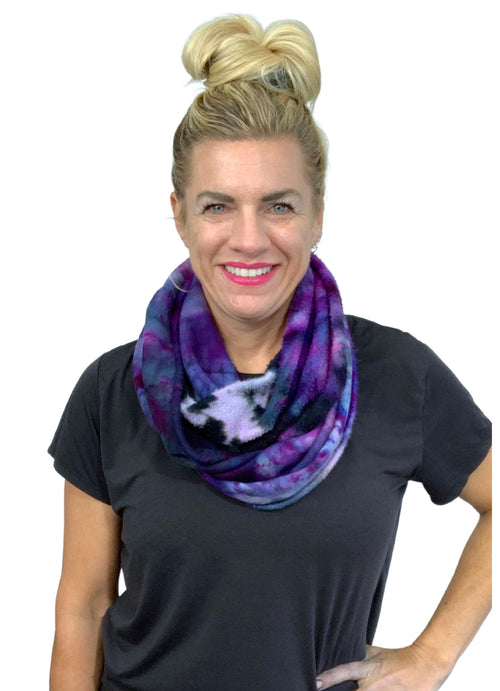 "Hand Dyed Bamboo Fleece Scarf in "" Lovely Lilac"" - Dyetology"