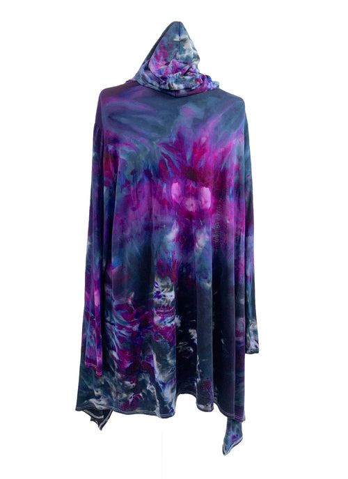 Hand Dyed Drape Front Jacket in Lovely Lilac - Dyetology