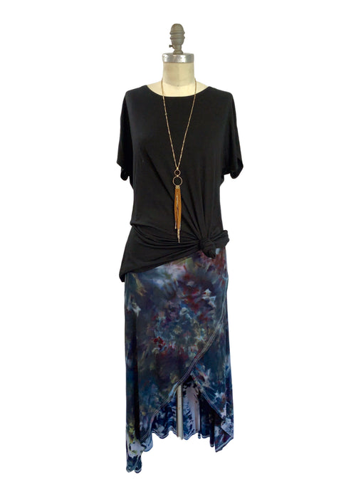 Split Hem Maxi Skirt in A Night Out - Dyetology