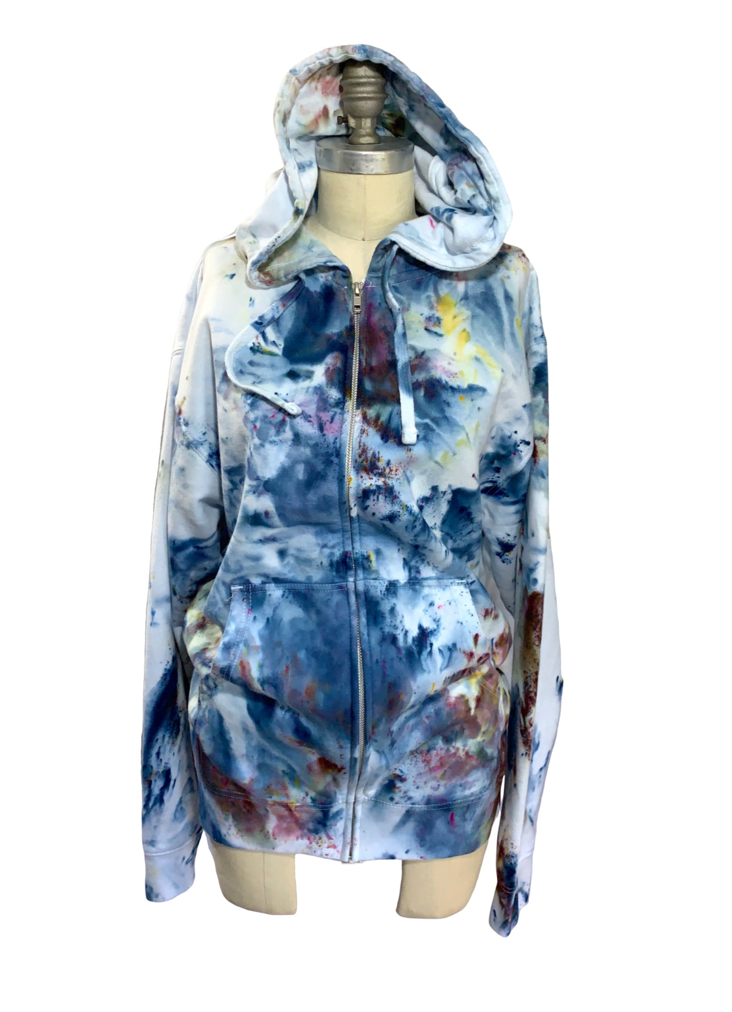 Perfect Zip Up  Hoodie Sweatshirt in Meadow - Limited Release - Top - Dyetology